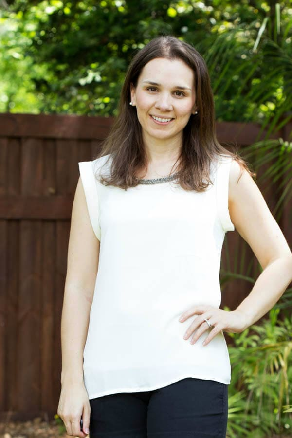 Stitch Fix Review April 2015 featuring Fate Parson Beaded Neckline Blouse!