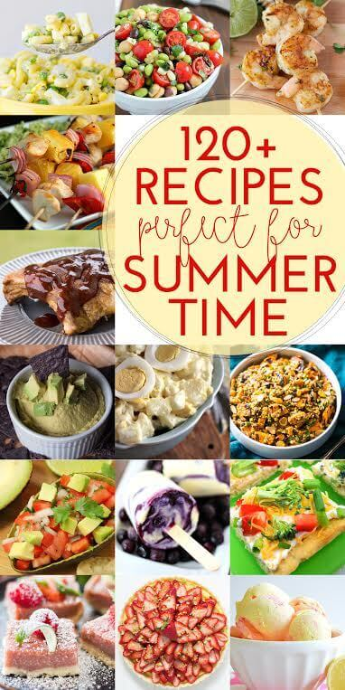 120+ Recipes Perfect for Summer!