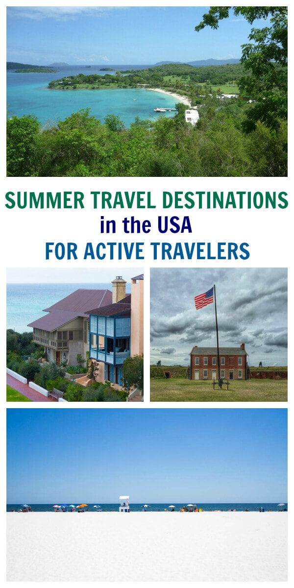 Top 10 Summer Travel Destinations in the USA for Active Travelers - featuring US Virgin Islands, New England, San Diego, California and more!
