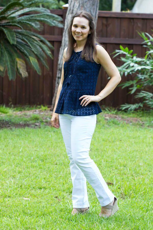Stitch Fix Review August 2015 featuring Daniel Rainn Adalena Tie Neck Top