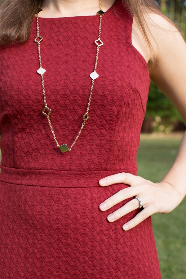 Stitch Fix October 2015 Review featuring Bancroft Kaitland Spade Charm Long Necklace!