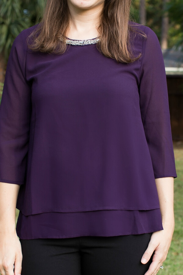 Stitch Fix October 2015 Review featuring Papermoon Garsee Embellished Neckline Blouse!