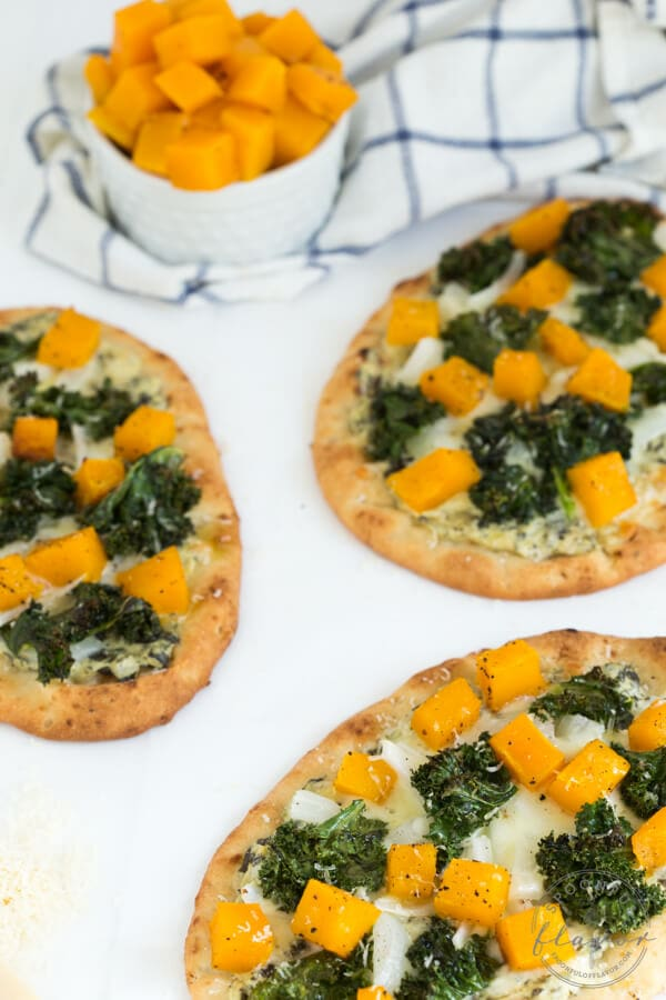 Roasted Butternut Squash, Kale and Spinach Flatbread ...