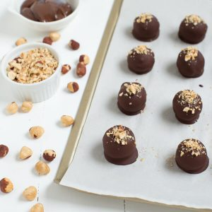 Chocolate Hazelnut Truffles are an impressive treat made with only four simple ingredients!