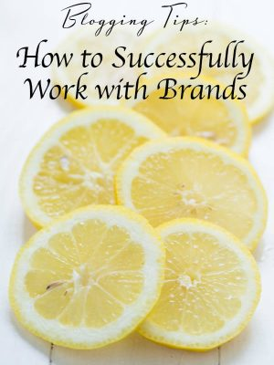 Blogger Resources: How to Successfully Work with Brands including tips and techniques to help you succeed as a blogger!