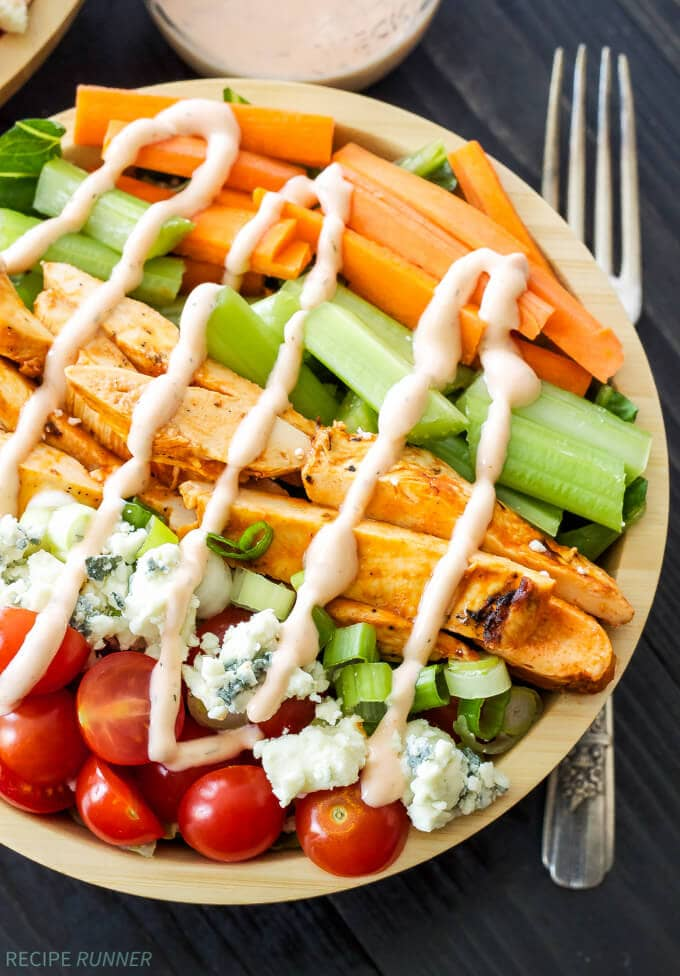Buffalo Chicken Salad with Spicy Ranch Dressing