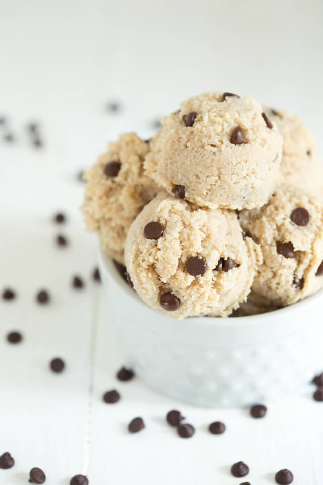 Chocolate Chip Macaroons are gluten free, dairy free and just as delicious as chocolate chip cookies. You can even eat the raw cookie dough!