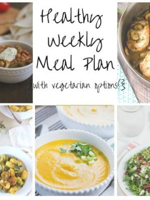 Healthy weekly meal plan for your week ahead including Creamy Pumpkin Gnocchi, Butter Squash Soup, Chicken Fajita Soup and more!