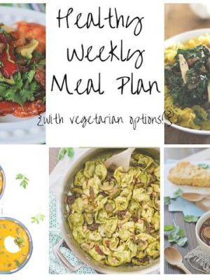 Healthy Weekly Meal plan for December including leftover fajita enchiladas, pesto tortellini, garlicky spaghetti squash and more!