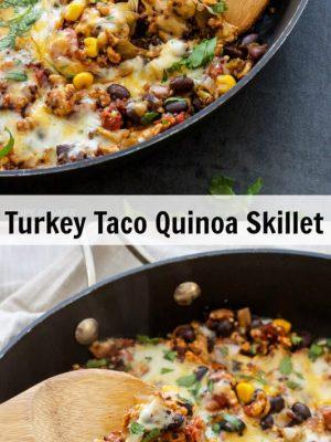 turkey taco quinoa skillet