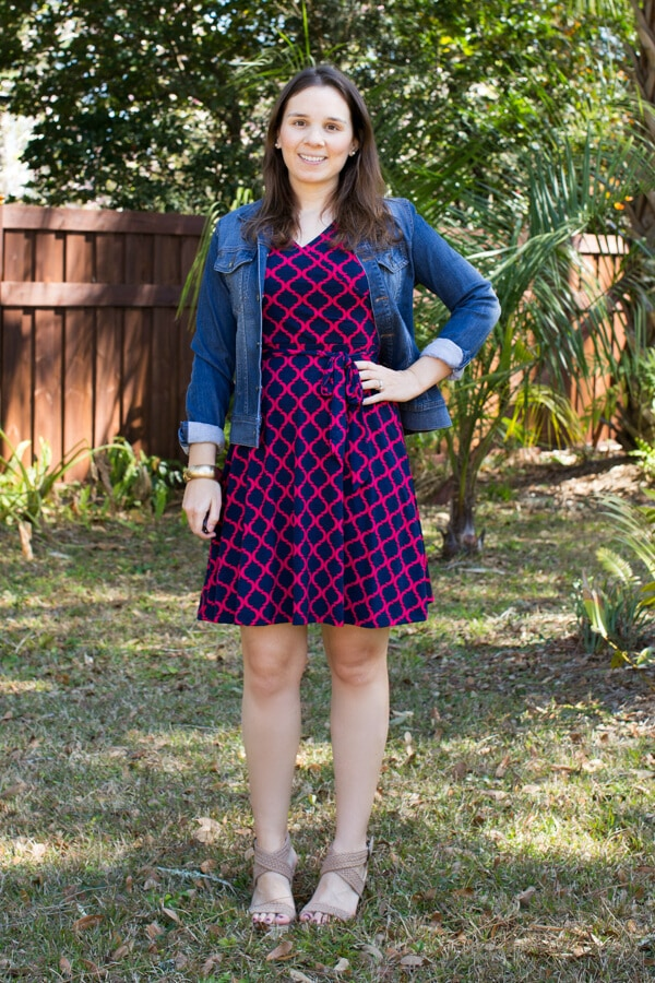 Stitch Fix February 2016 Review featuring 41Hawthorn Kassidy Faux Wrap Dress