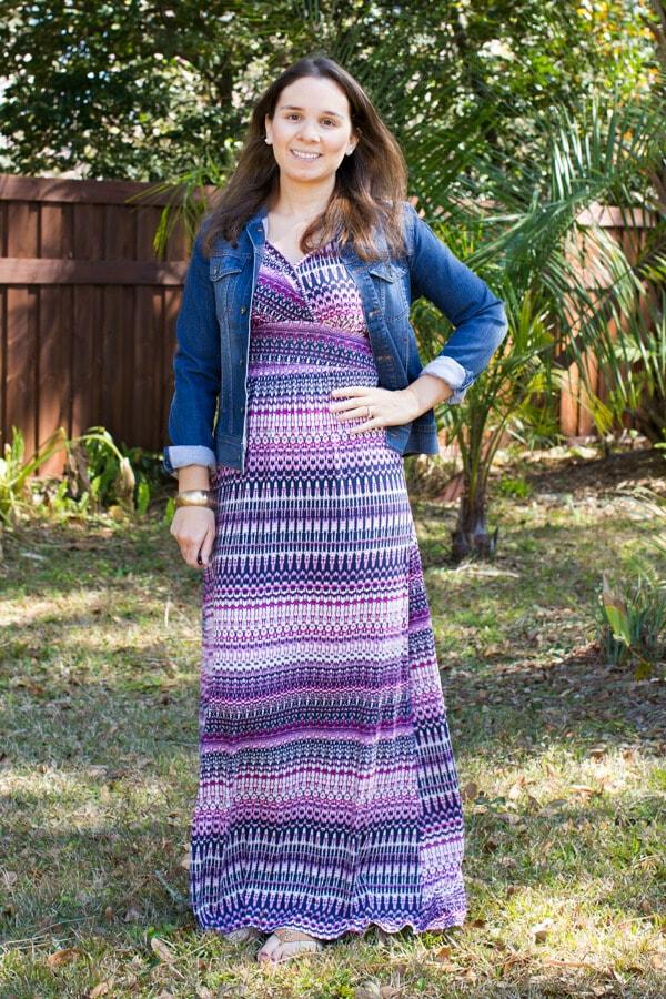 Stitch Fix February 2016 Review featuring Loveappella Carlita Multi Chevron Print Maxi Dress