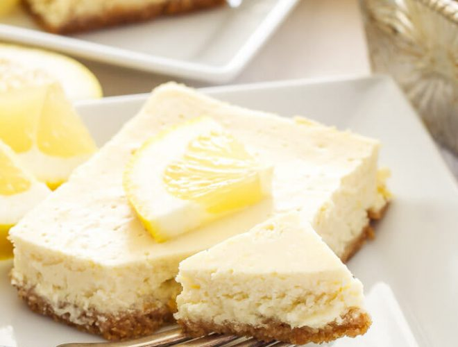 Greek Yogurt Lemon Cheesecake Bars