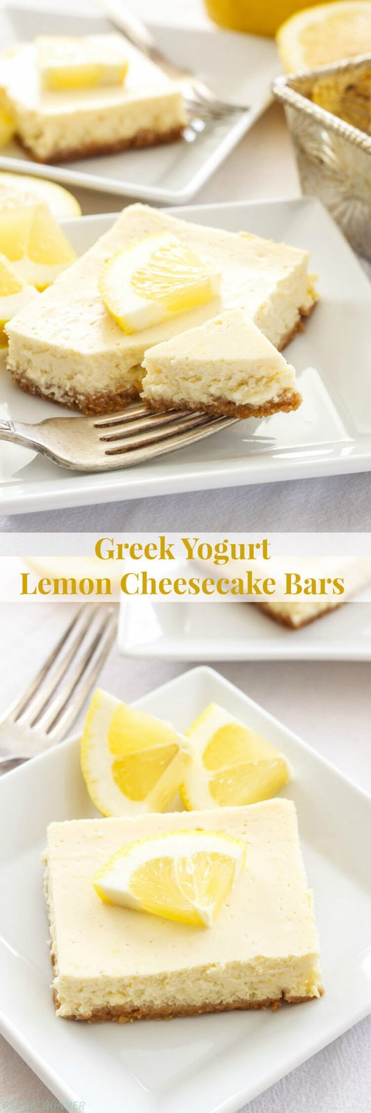 Greek yogurt lemon cheesecake bars spoonful of flavor greek yogurt lemon cheesecake bars lightened up creamy and bursting with fresh lemon flavor forumfinder Image collections