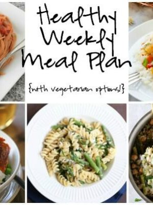 Enjoy a healthy weekly meal plan featuring fusilli pasta with asparagus, spring veggie casserole, curried salmon and more!