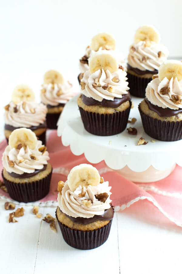 Chocolate Banana Nut Crunch Cupcakes Spoonful Of Flavor