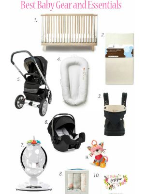 How to Choose the Best Baby Gear and Essentials featuring ten items to have on hand before baby arrives and more!