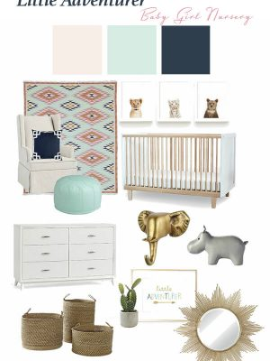Designing a little girl's nursery featuring a classic, comfortable and chic little adventurer theme!