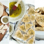 Baked Seasoned Pita Chips are made with only three ingredients and taste better than anything you can buy at the store. Serve with hummus, dip and more!