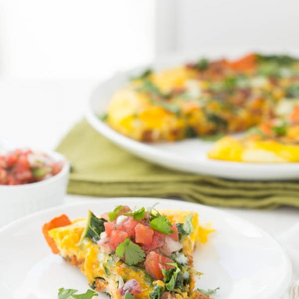 Healthy Weekly Meal Plan featuring Chorizo Kale and Sweet Potato Frittata and more!