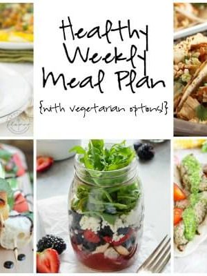 Healthy Weekly Meal Plan featuring Thai Chicken Tacos and more!