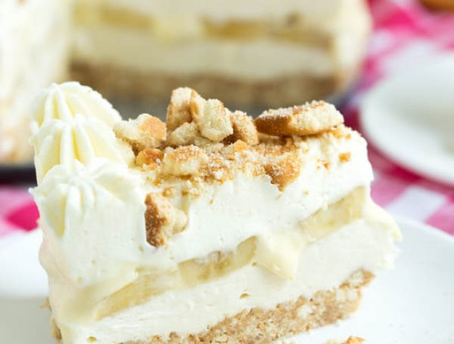 No Bake Banana Cream Pudding Cheesecake combines everything you love about banana pudding and cheesecake in one irresistible dessert!