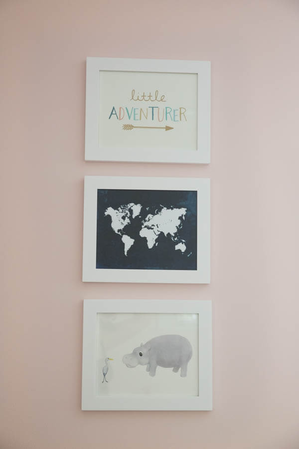 A beautiful little girl's nursery designed for a little adventurer! Complete source list and details provided.