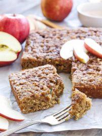 Cinnamon Apple Snack Cake   www.reciperunner.com