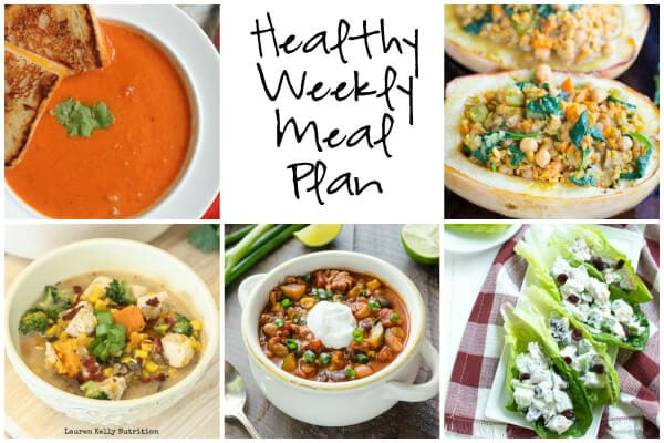 Healthy Weekly Meal Plan 10.8.16 - Spoonful of Flavor