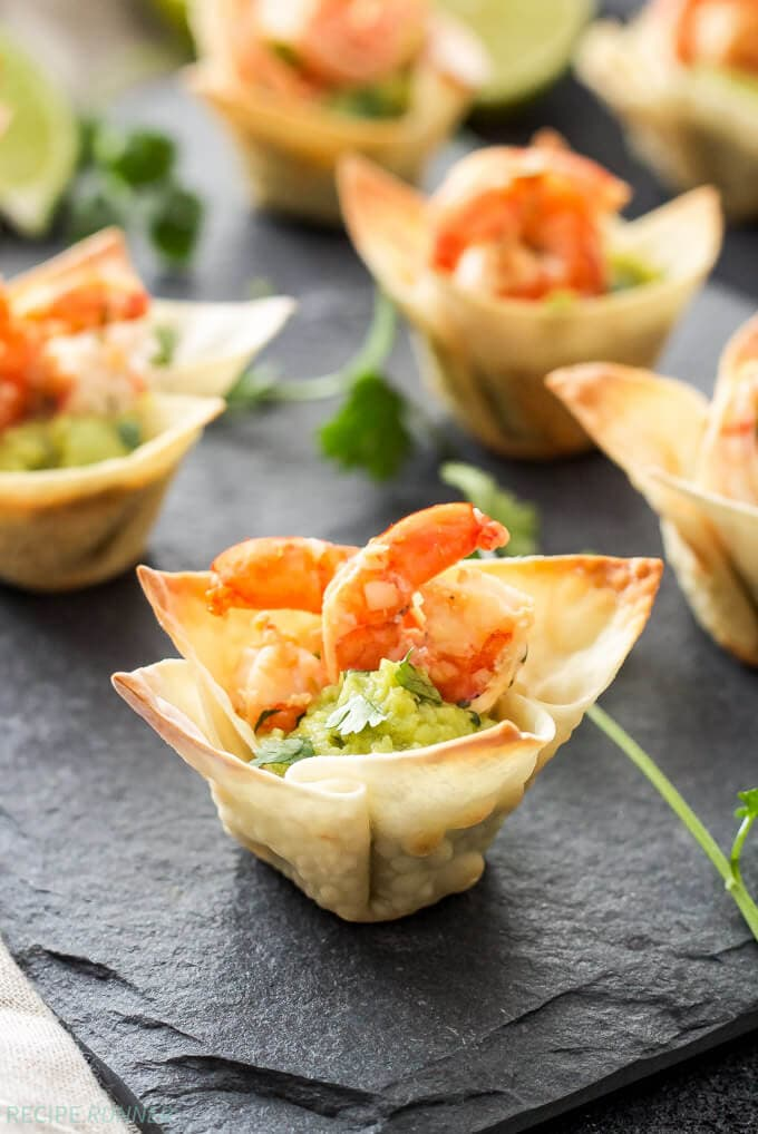 Tequila Lime Shrimp Taco Cups | www.reciperunner.com