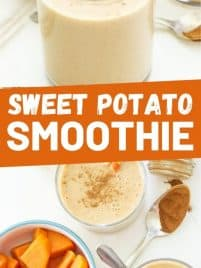 sweet potato smoothie in a glass