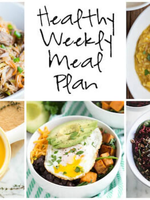 Healthy Weekly Meal Plan with Autumn Corn Chowder, Spiralized Beet Quinoa Salad, Butternut Squash Potato Leek Soup and more!