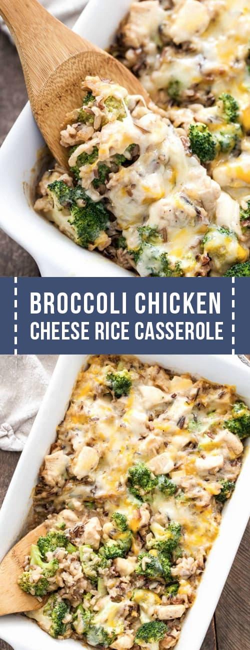 broccoli chicken cheese rice casserole recipe