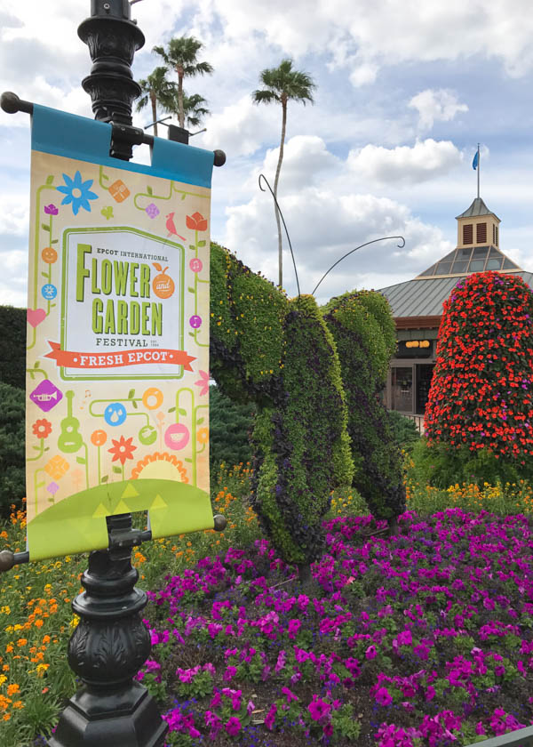 Foodie's Guide to the 2017 Epcot International Flower and Garden Festival features festival highlights and foodie favorites. Download a free printable guide featuring unique Disney topiaries, gardens and delectable meals from around the world!