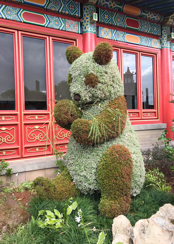 Panda Topiary at Epcot