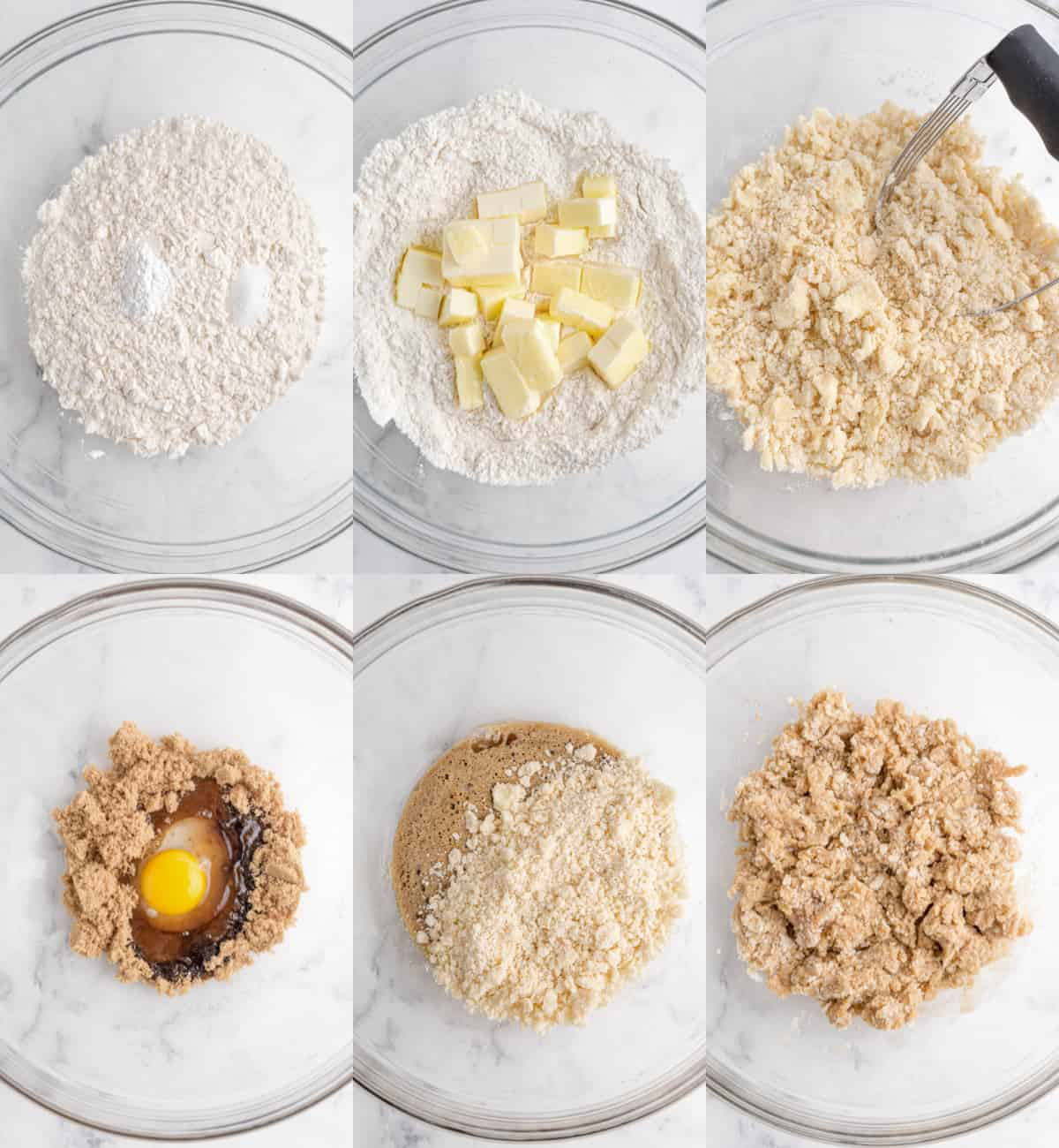 mixing together ingredients for bars in a bowl