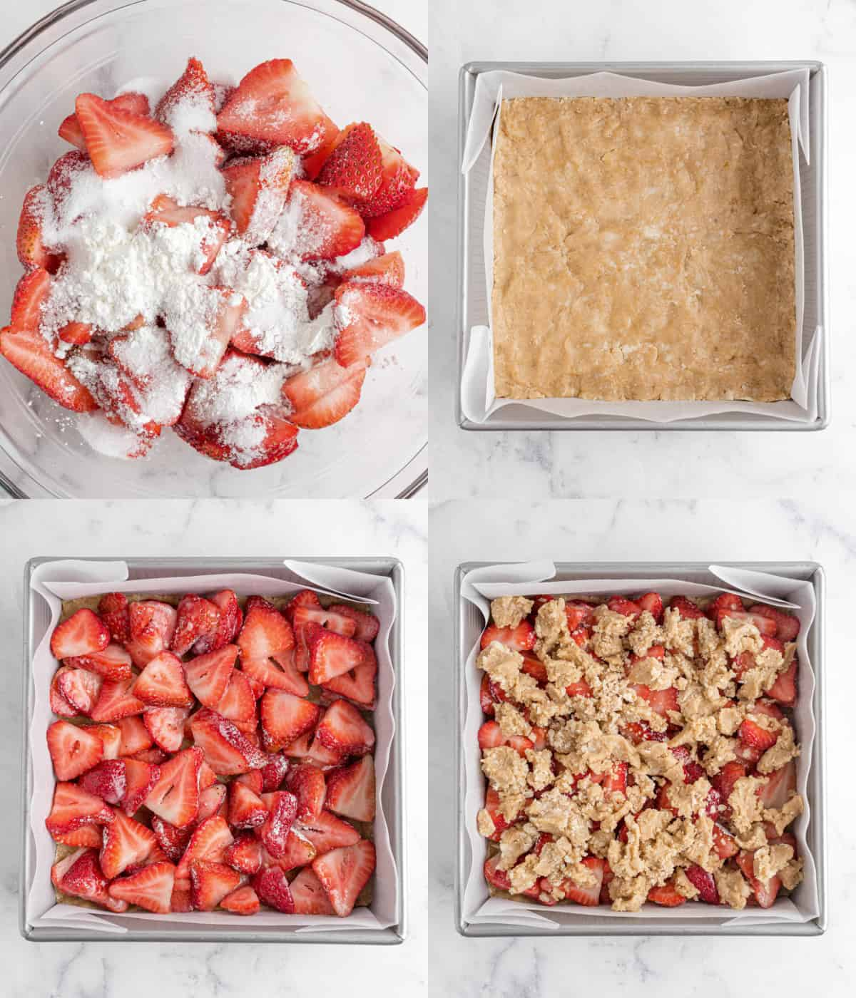 layering ingredients into pan for bars