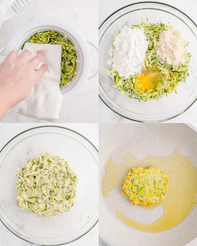 process to make zucchini fritters