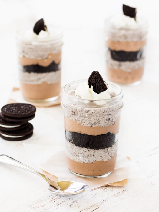Chocolate cookie cheesecake parfait is a must-try no-bake dessert for summer!