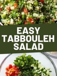a big bowl of tabbouleh salad