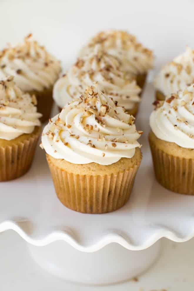 Maple Pecan Cupcakes With Maple Cream Cheese Frosting