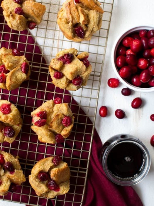 Cranberry French Toast Muffins are made with a few simple ingredients and fresh cranberries! They are a fun addition to your breakfast or brunch menu and are perfect for your next holiday gathering.