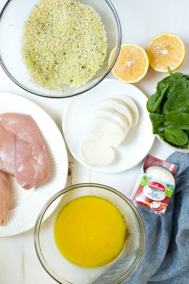 Sheet Pan Mozzarella Stuffed Lemon Chicken and Broccoli is an easy one-pan meal made with freshest flavors!