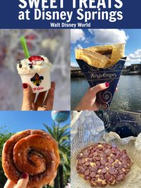 collage of four sweet treats at disney springs