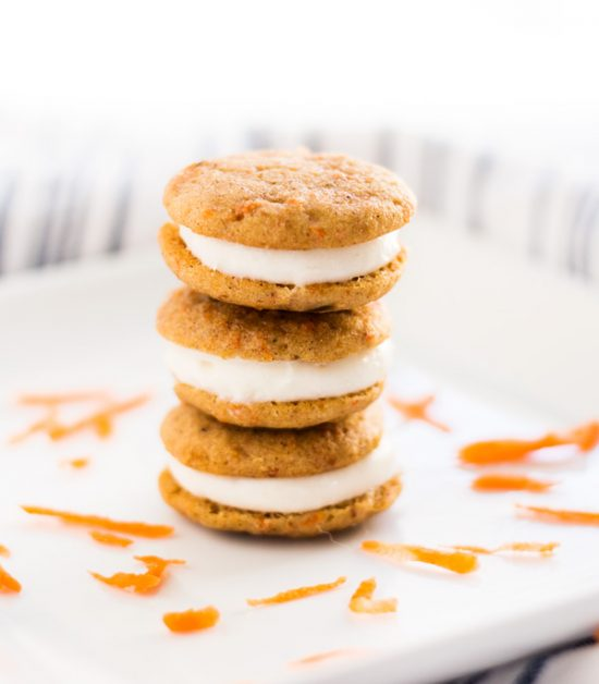 Mini carrot cake whoopie pies