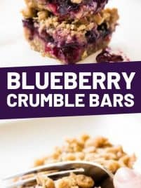 one blueberry crumble bar