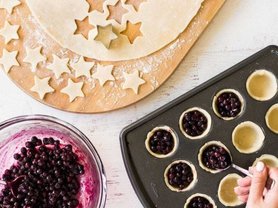 Mini blueberry pies recipes fourth of july stars