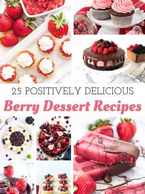 Over 25 Berry Dessert Recipes to enjoy all year long! #strawberry #raspberry #blueberry #blackberry #berry #dessert #recipe