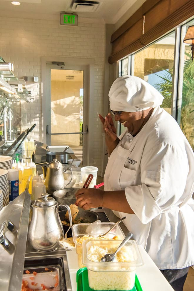 Omni Amelia Island Plantation Resort is the perfect getaway in Florida! Read all about the best culinary experiences, restaurants, activities and more - featuring the Sunrise Cafe! #Omni #AmeliaIsland #culinary #travel #sunrisecafe #omelet