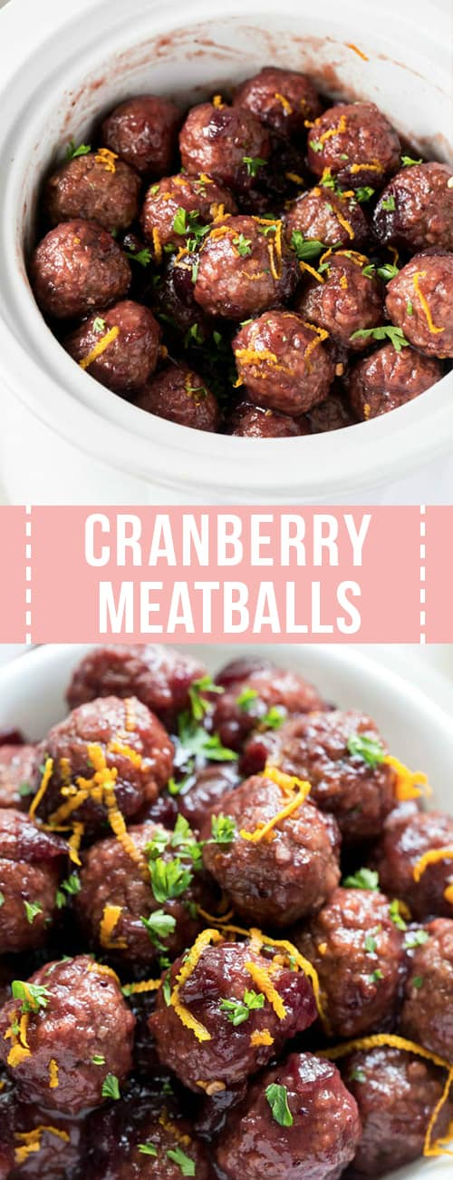 easy cranberry meatballs made in the crockpot